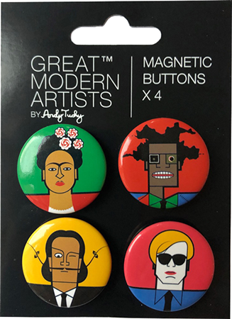 Great Modern Artists | Glass Magnets